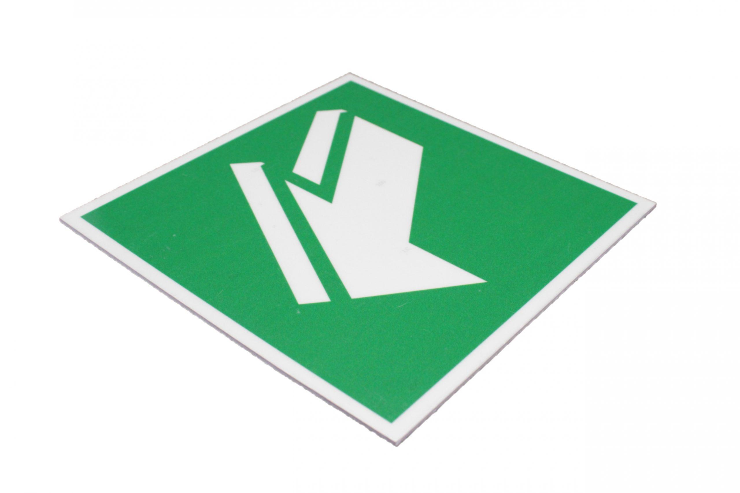 Эвакуационный знак E 19 Открывать движением на себя