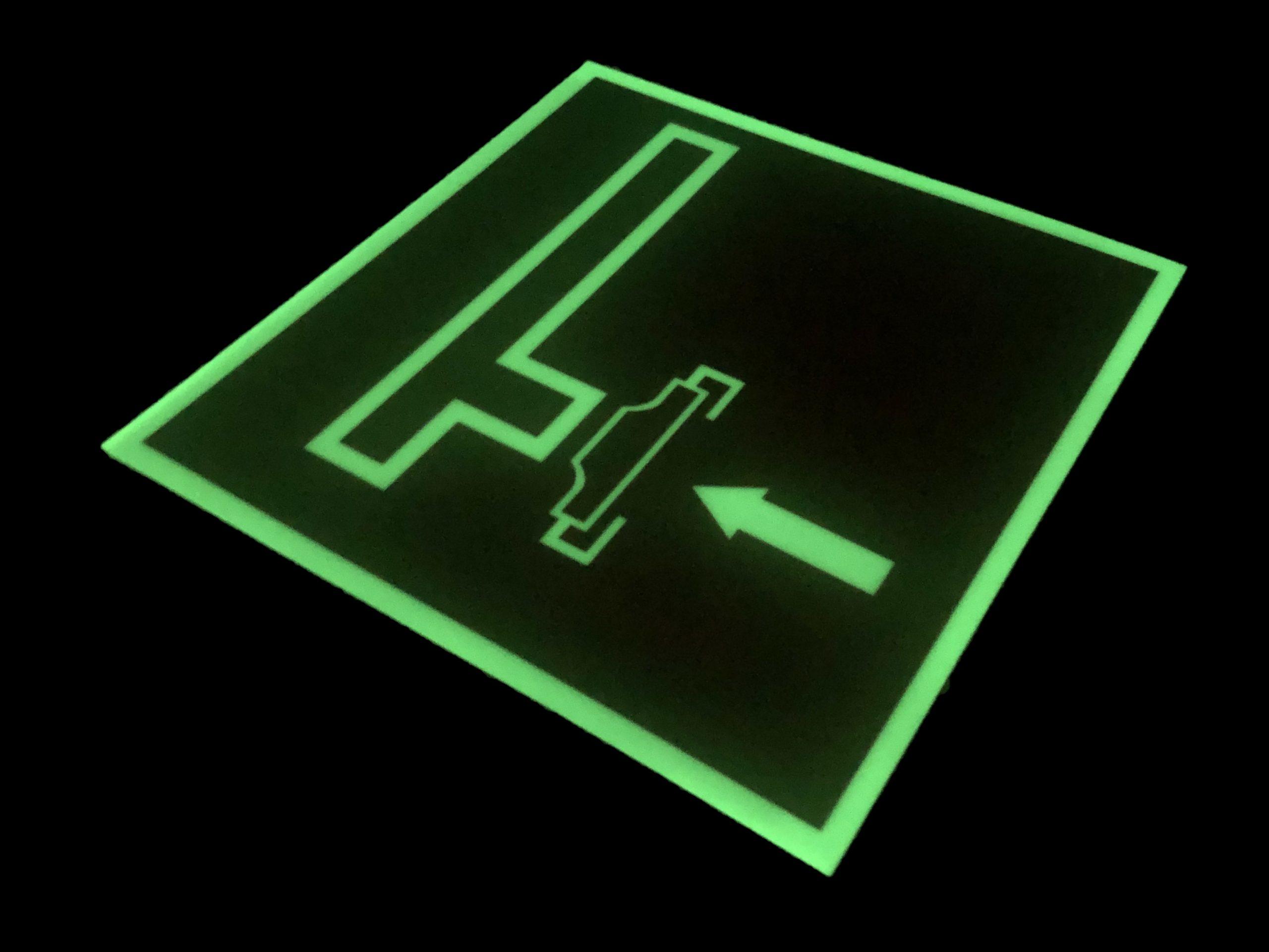 Фотолюминесцентный знак Пожарный сухотрубный стояк