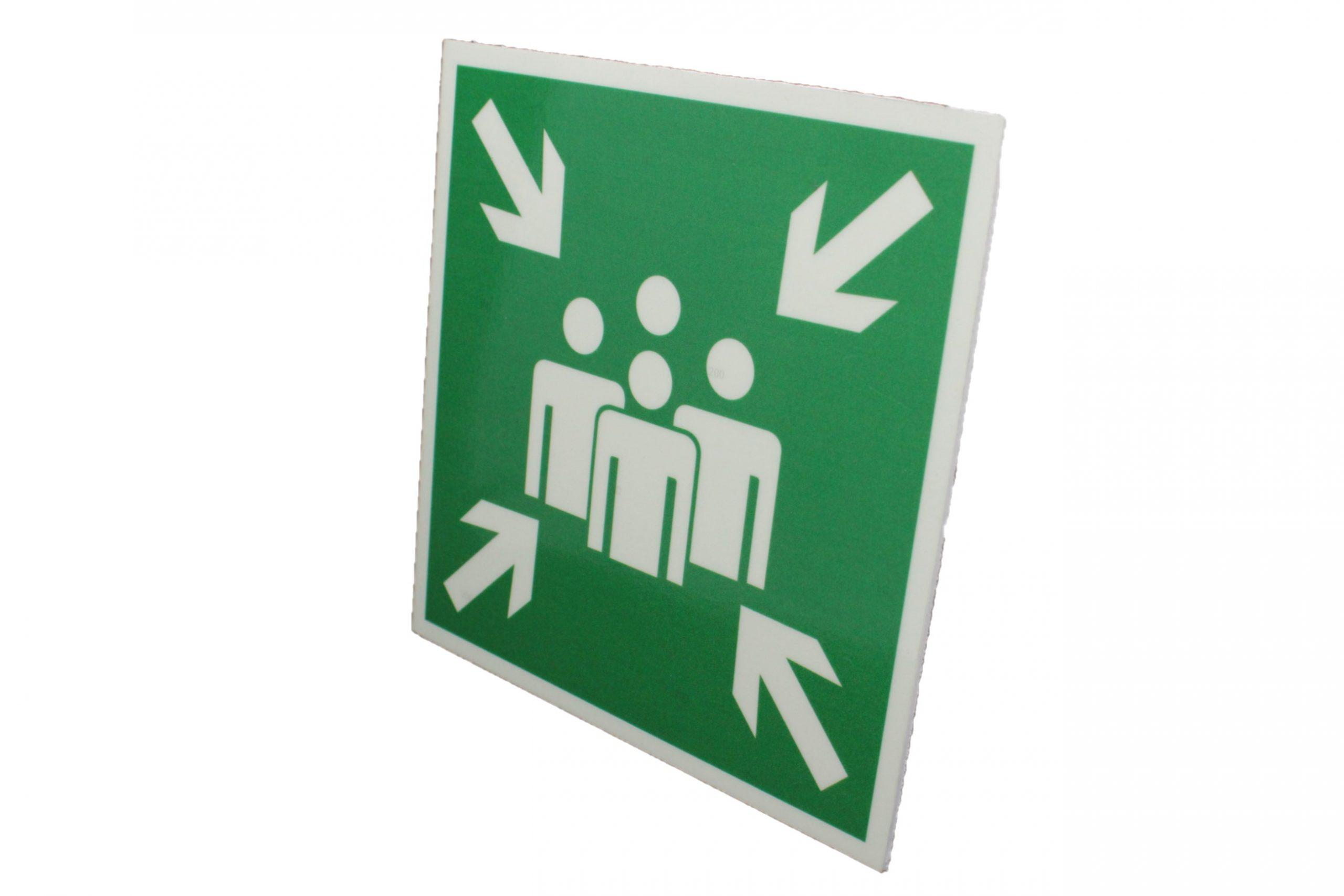 Знак эвакуации фотолюминесцентный место сбора