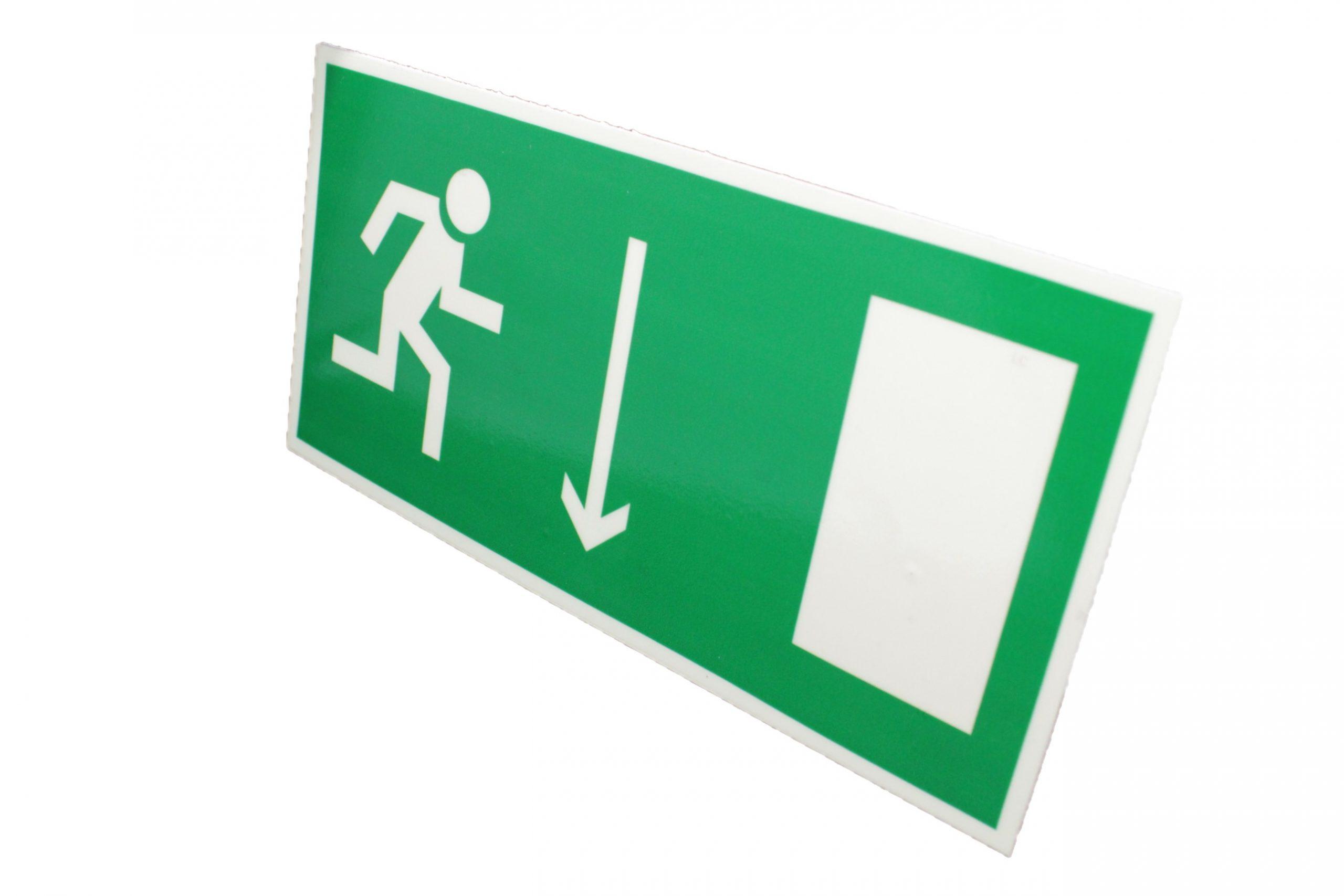 Знак эвакуации фотолюминесцентный указатель двери правый