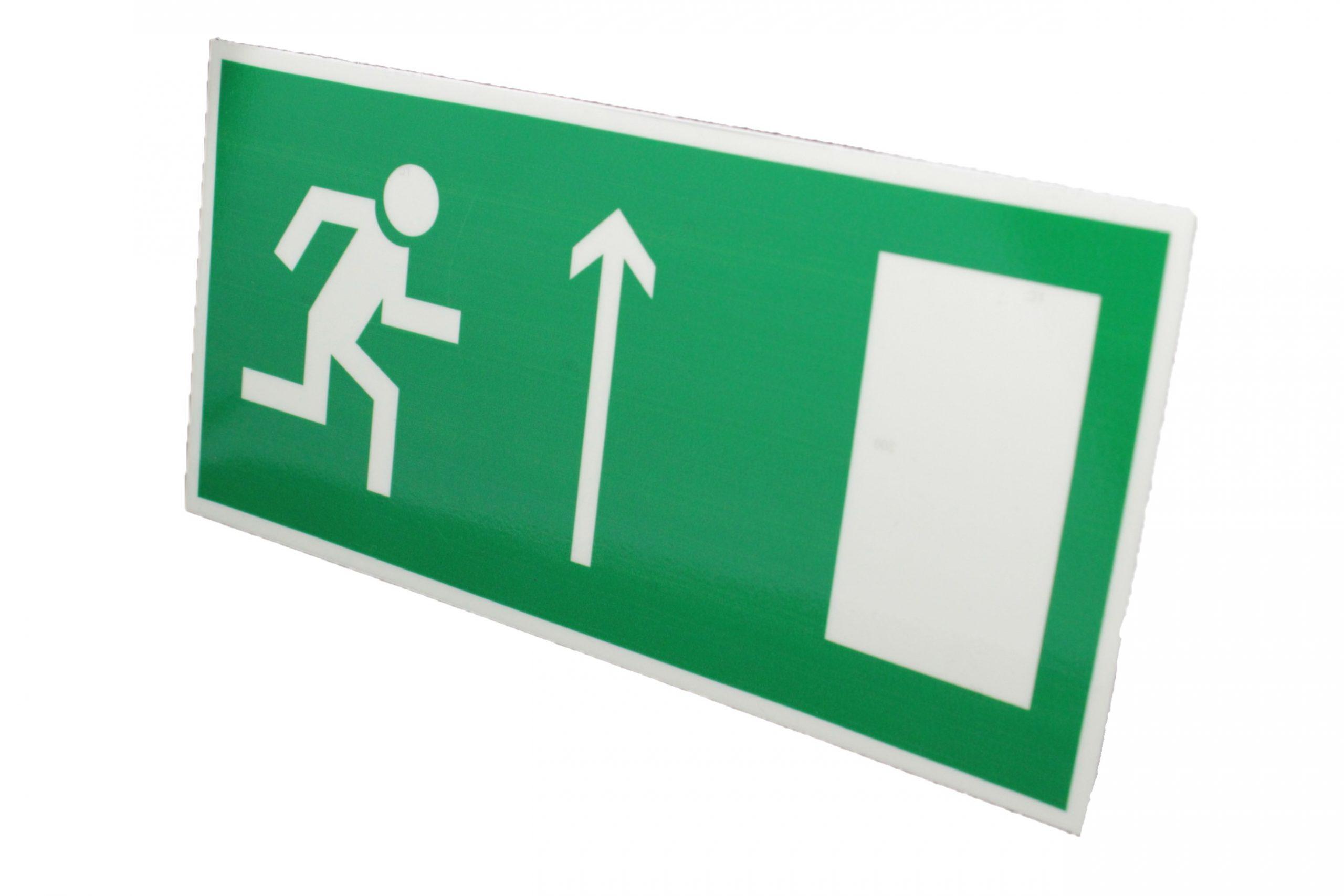 Знак эвакуации фотолюминесцентный выход прямо правый