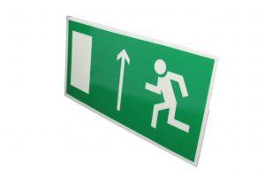 Знак эвакуации фотолюминесцентный выход прямо левый