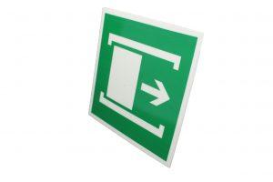 Знак эвакуации фотолюминесцентный для открытия сдвинуть