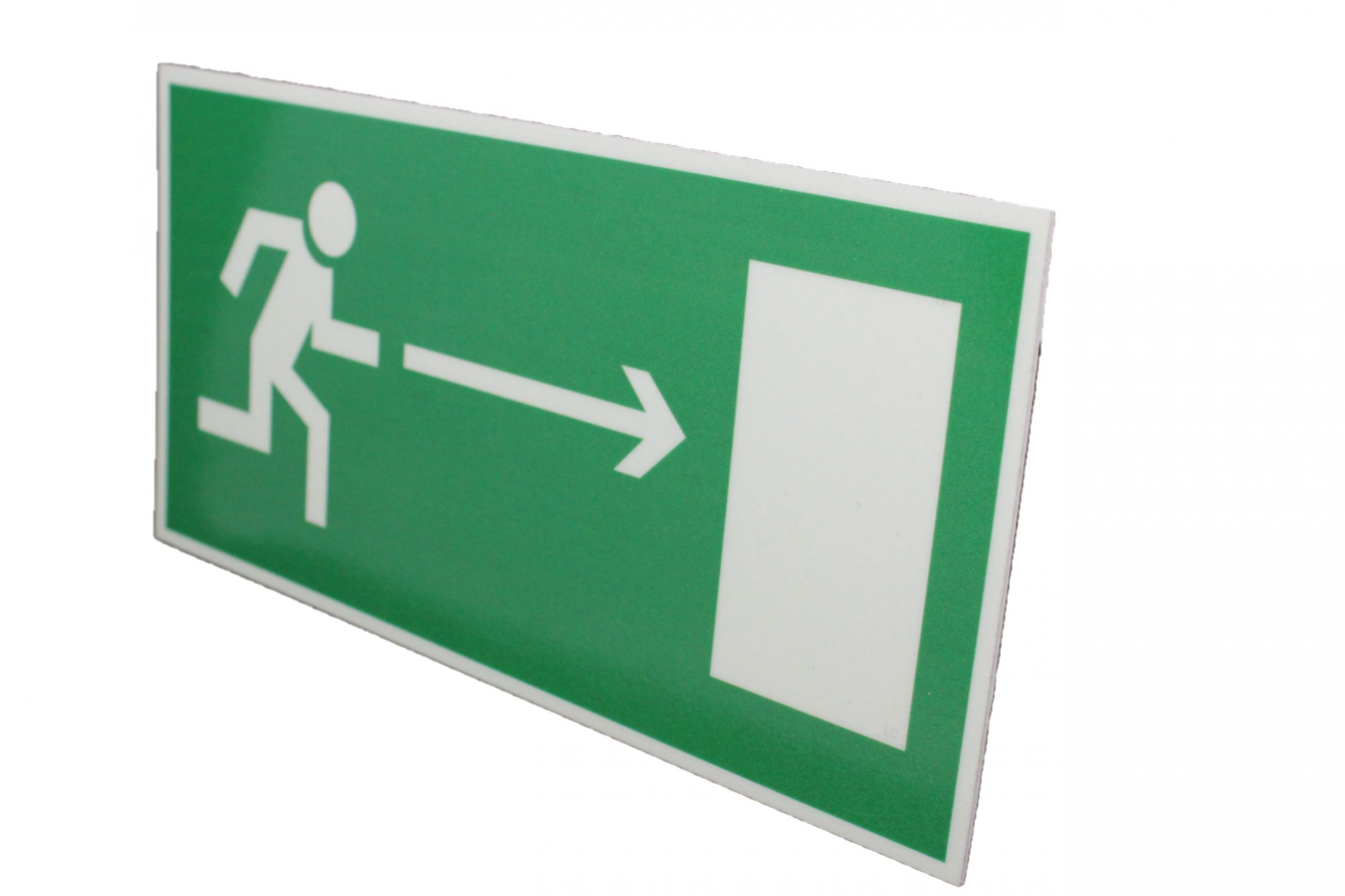 Знак эвакуации фотолюминесцентный выход направо