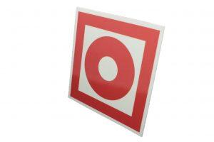 Знак пожарной безопасности Кнопка включения систем пожарной автоматики
