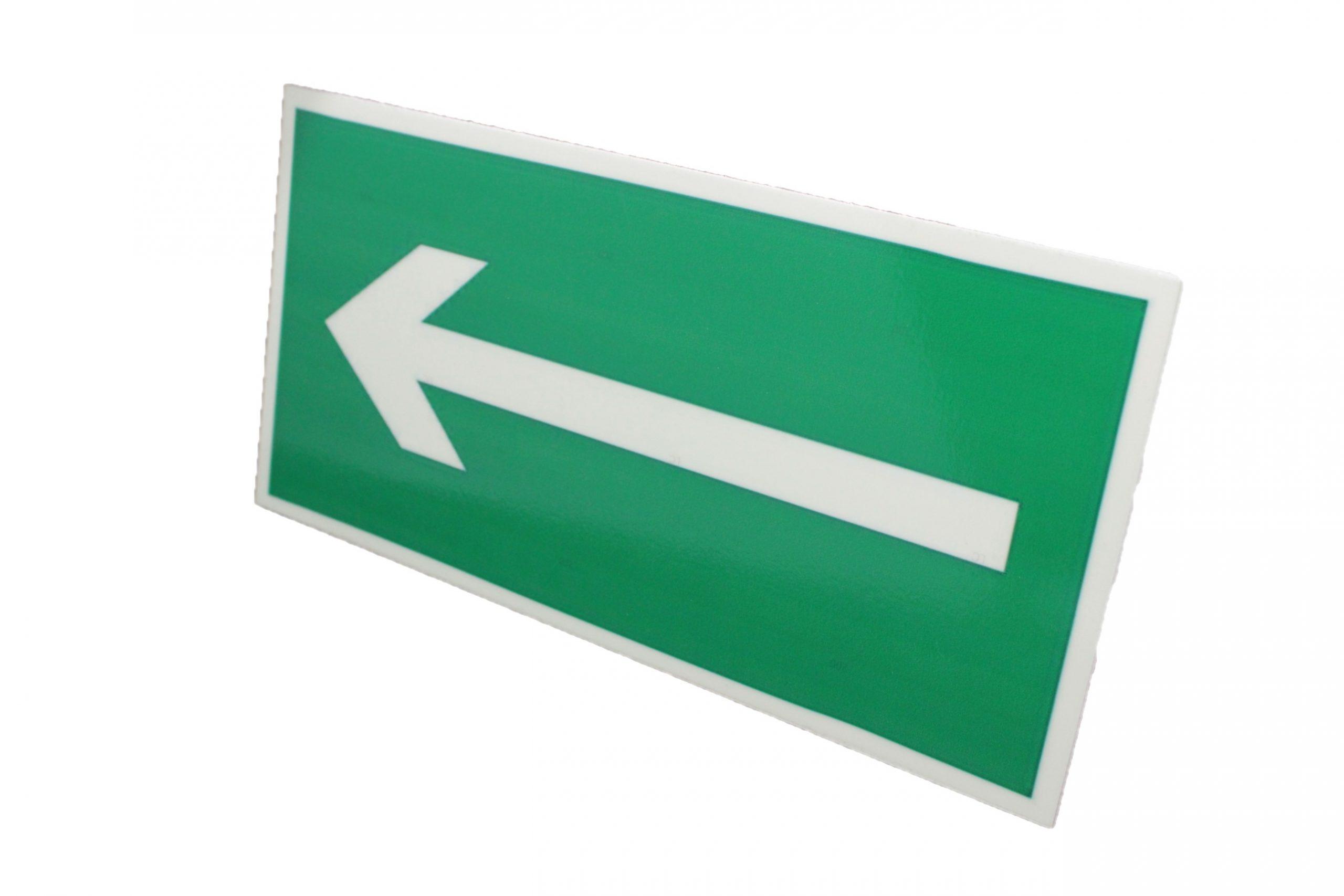Знак эвакуации фотолюминесцентный направляющая стрелка влево