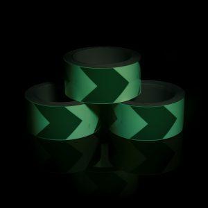 Фотолюминесцентная лента С печатью стрелок/полос в рулоне в темноте